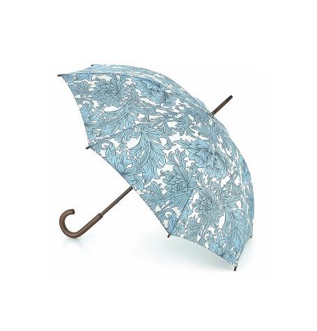 Зонт-трость с дизайнерским принтом «Цветы», механика, Morris Co, Roma, Fulton