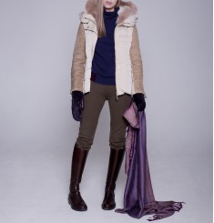 Женская куртка-жакет Sonya c оторочкой из меха