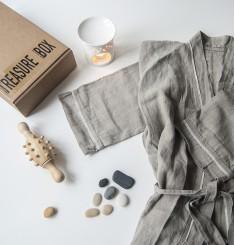 Халат для бани из 100% льна