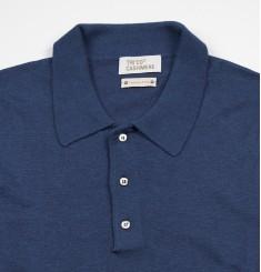 Поло, Италия, шёлк/шерсть, цвет темно-джинсовый
