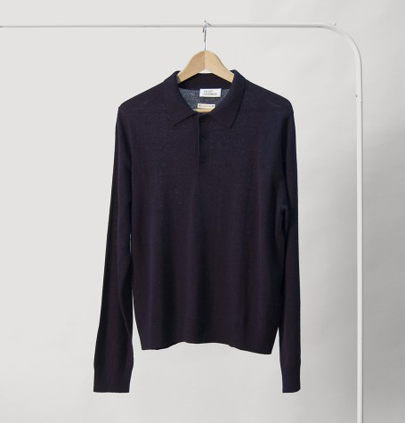 Поло, Италия, шёлк/шерсть, цвет чёрный ирис