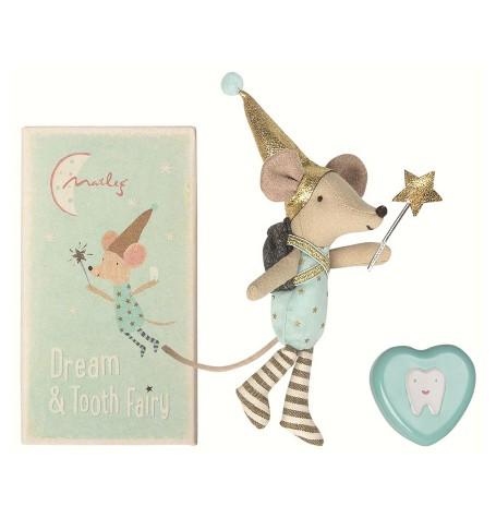 Мышка Зубная фея со шкатулкой для первого зубика, мальчик