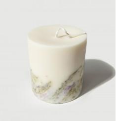"""""""Вереск"""" АРОМАсвеча 515 ml соевый воск, натуральные цветы и эфирные масла, хлопковый фитиль"""