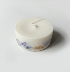 """""""Полевые цветы"""" АРОМАсвеча 220 ml соевый воск, натуральные цветы и эфирные масла, хлопковый фитиль"""
