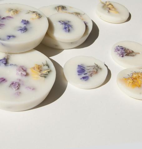 """""""Полевые цветы"""" АРОМАлепестки для аромалампы соевый воск, натуральные цветы и эфирные масла"""