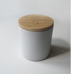 Цилиндрическая свеча из соевого воска с ароматом мяты