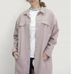 Джинсовая куртка удлиненная