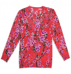 Пуловер цветы