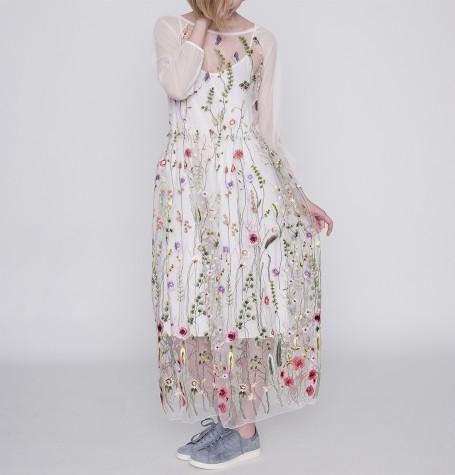 Платье ажур цветы