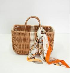 Плетеная корзинка для хюгге-настроения большая