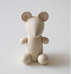 Мышка деревянная
