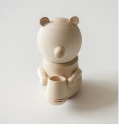 Мишка деревянный бочонок меда