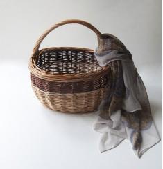 Плетеная корзинка для хюгге-настроения средняя