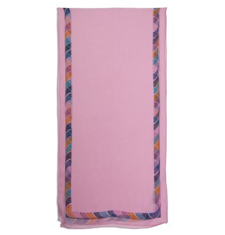 Шёлковый шарф в ярких цветах