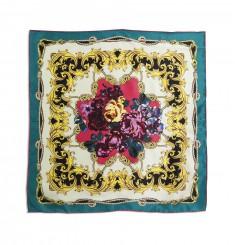 Шёлковый платочек в ярких цветах